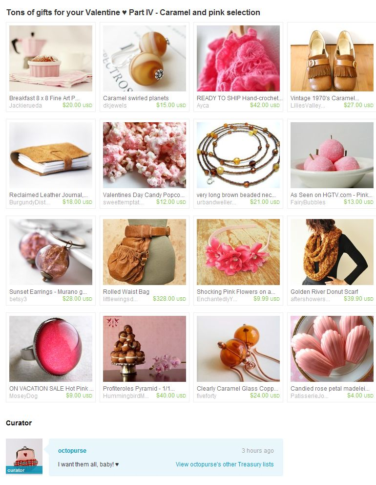 Pink and caramel treasury 1.12.11