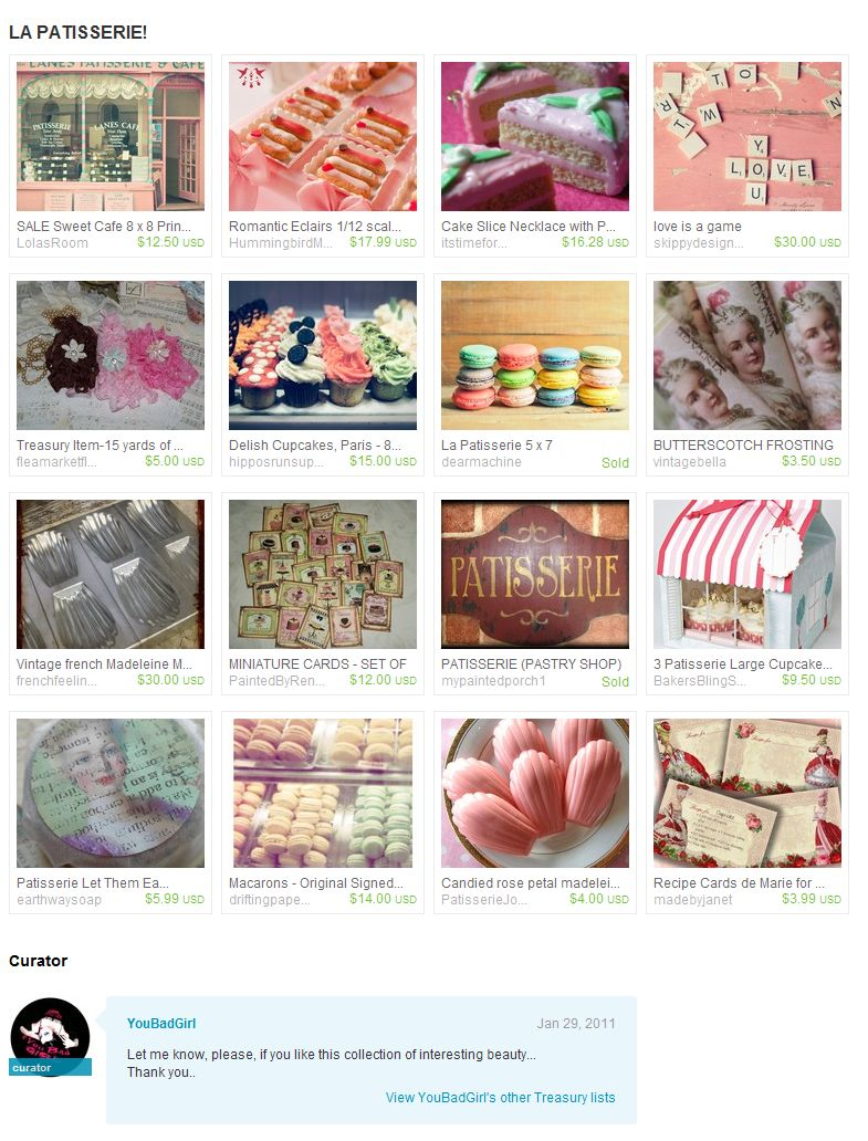 'LA PATISSERIE by YouBadGirl on Etsy 1.30.11