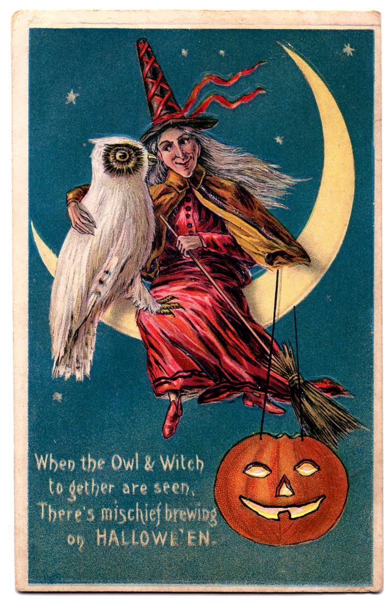 Halloween witch vintage